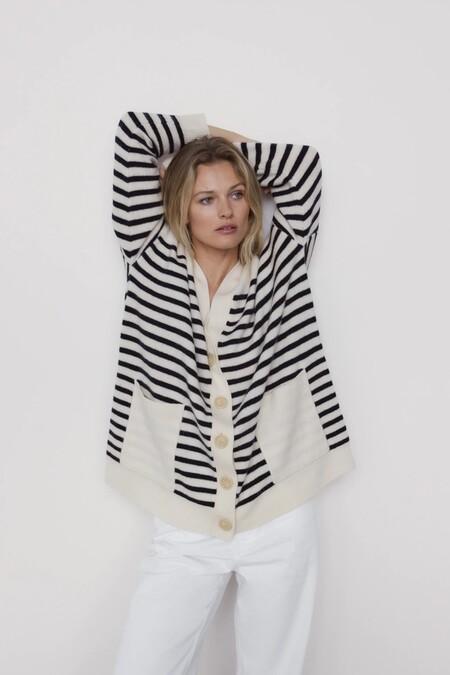 Zara Jersey Basico Rayas Marineras 09