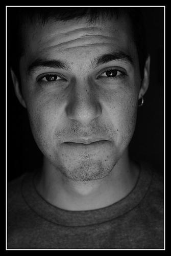 Las arrugas de expresión en rostros masculinos