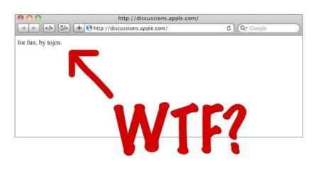 Los foros de discusión oficiales de Apple sufren un extraño error