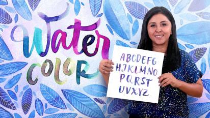 Caligrafía con pinceles de agua para principiantes