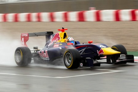 Carlos Sainz GP3 Lluvia
