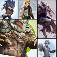 El director de arte de God of War reimagina de manera realista a los personajes de Super Smash Bros