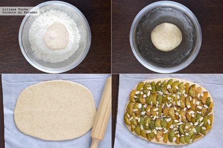 Hefe Kuchen de Ciruelas. Pasos