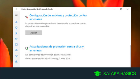 Cómo desactivar temporalmente el antivirus de Windows 10, Windows Defender