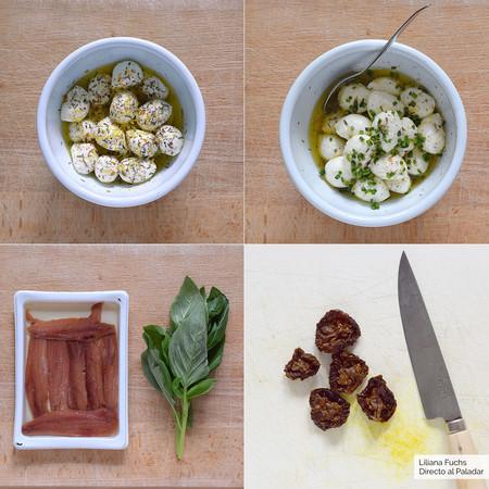 Cucharitas de Mozzarella. Pasos