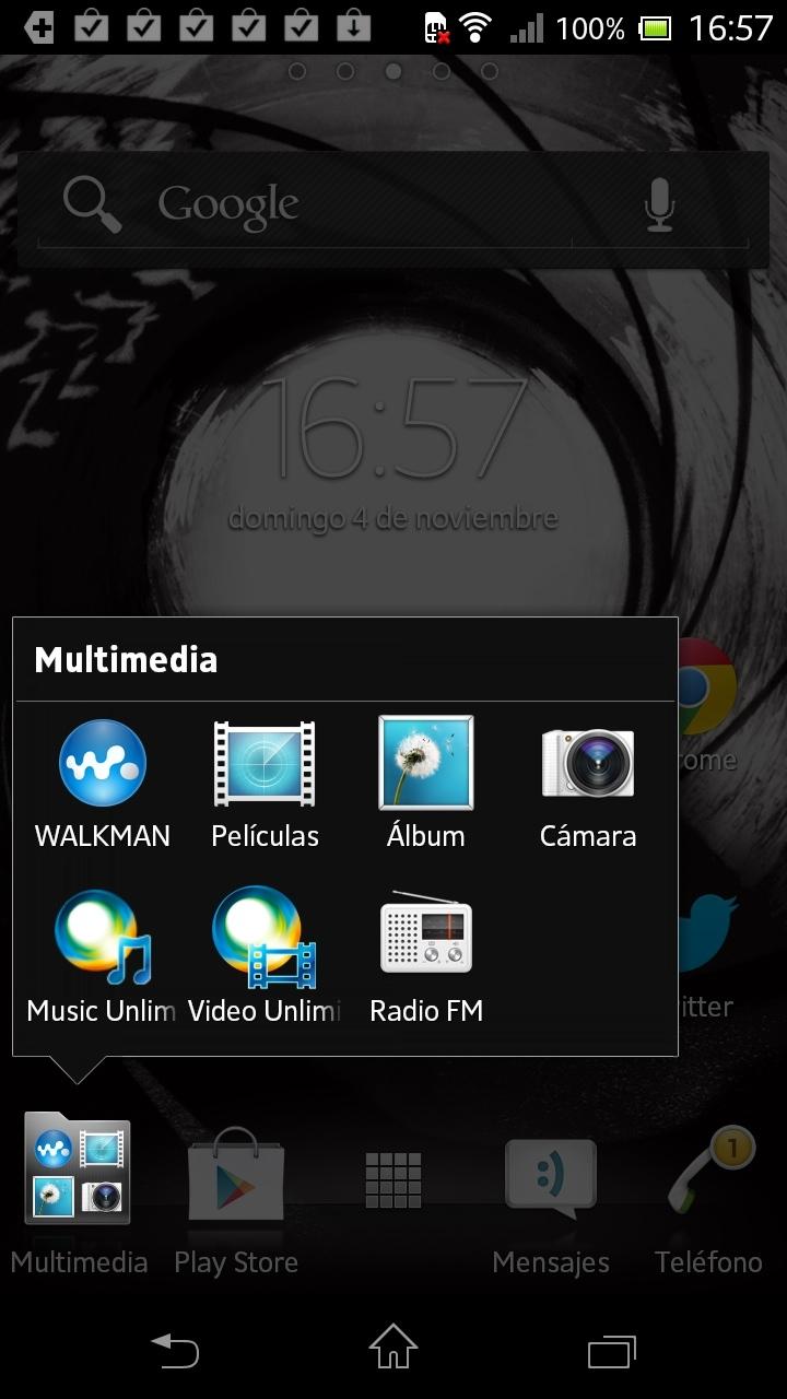 Foto de Xperia T capturas sistema operativo (8/8)