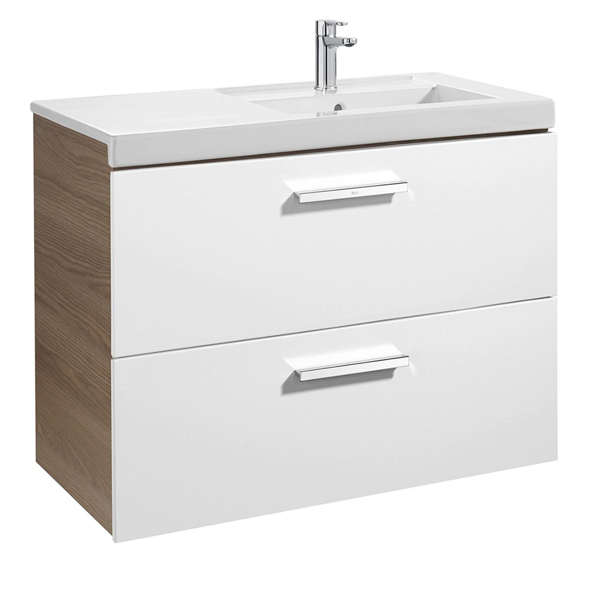Conjunto de baño con mueble con 2 cajones y lavabo Prisma Roca