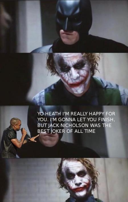 Kanye interrumpe al Joker