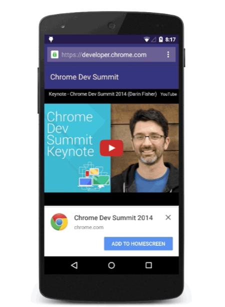 Chrome se actualiza con notificaciones de sitio y link directo en la pantalla de inicio