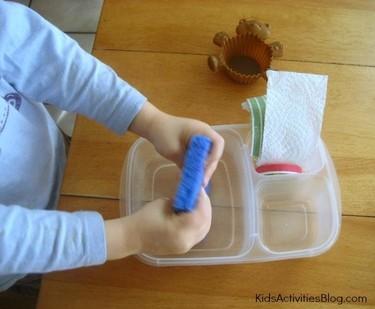 Experimento de ciencias con niños: absorción del agua