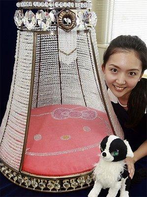 Hello Kitty, lujosa cama de mascotas