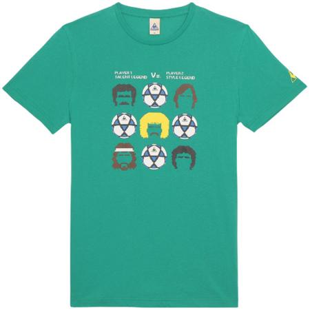 camiseta verde lecoq sportif