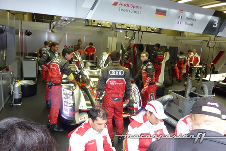 Boxes Audi Sport Team Joest #3 6 horas Spa 2012