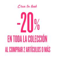En Desigual tenemos el 20% de descuento por la compra de dos artículos o más