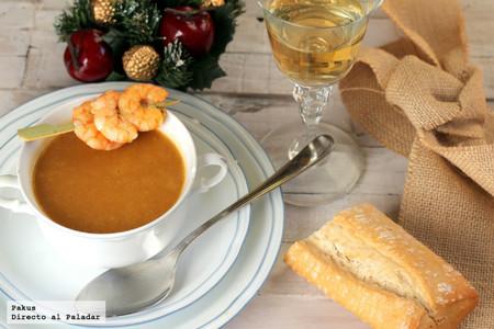 Bisque de langostinos, el mejor entrante calentito para las cenas de Navidad