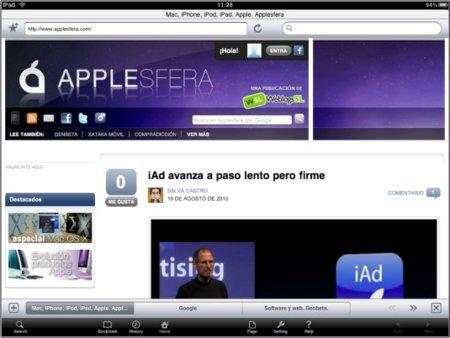iLunascape, un navegador interesante y gratuito para el iPad
