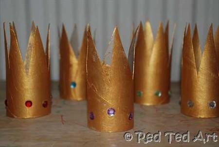 Manualidades Reyes Magos Corona Tubo