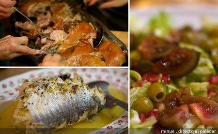 Nochebuena en casa de los albella - carne y pescado