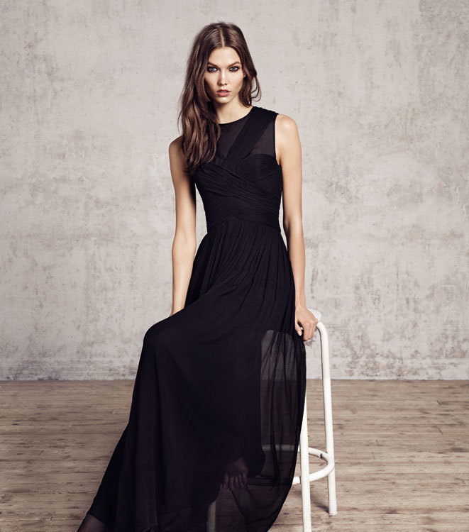 Vestido negro para fiesta largo