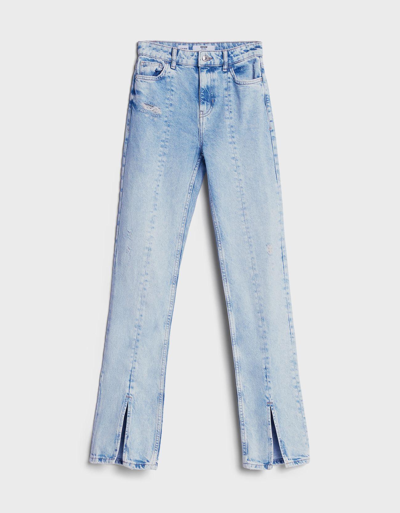 Jeans abertura bajo.