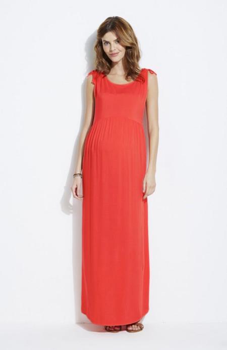 Vestido Largo Color Rojo Premama