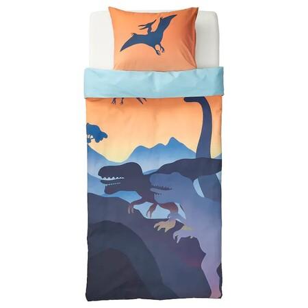 Jattelik Funda Nordica Funda Almohada Dinosaurio Al Amanecer Naranja Azul 0810123 Pe771241 S5