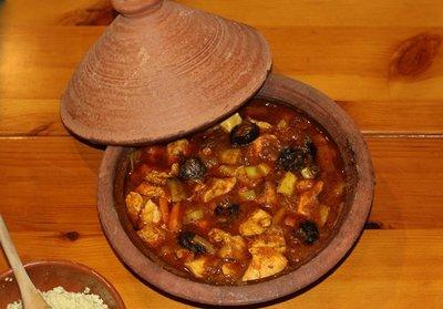 Receta de tajine de pollo y verduras