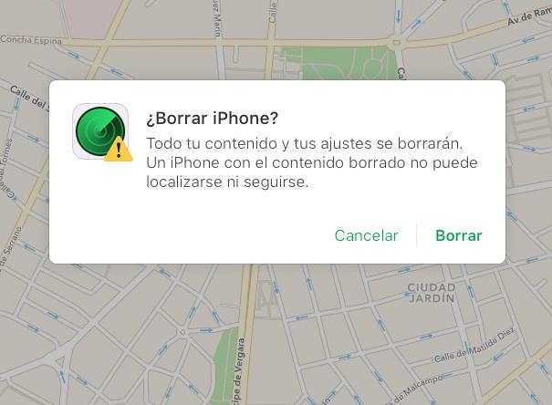 Borrar Iphone
