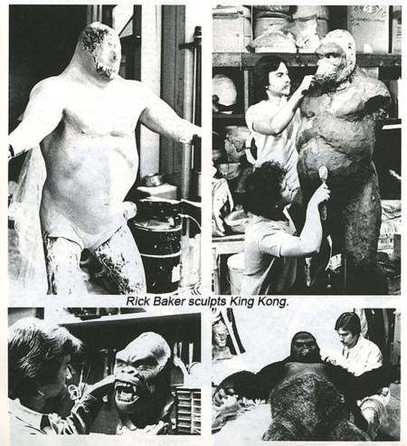 Rick Baker creando a King Kong