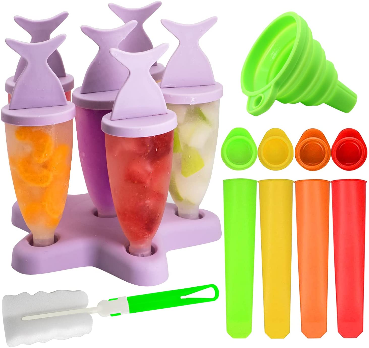 Set de moldes en forma de cono para helados y polos