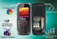 Olive FrvrOn V-G2300 un móvil de 25 euros que funciona con pilas