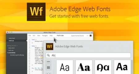 Adobe Edge Web Fonts: ampliando el poder de Google Web Fonts e integrándolo en las herramientas de Adobe