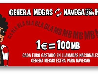 Pepephone estrena en mayo un nuevo plan de recompensas: 100 MB por cada euro gastado en llamadas