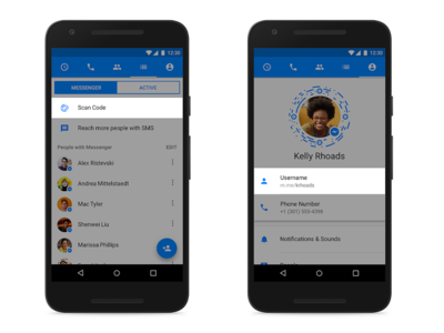 Facebook Messenger lanza los nombre de usuario, enlaces y códigos para agregar contactos