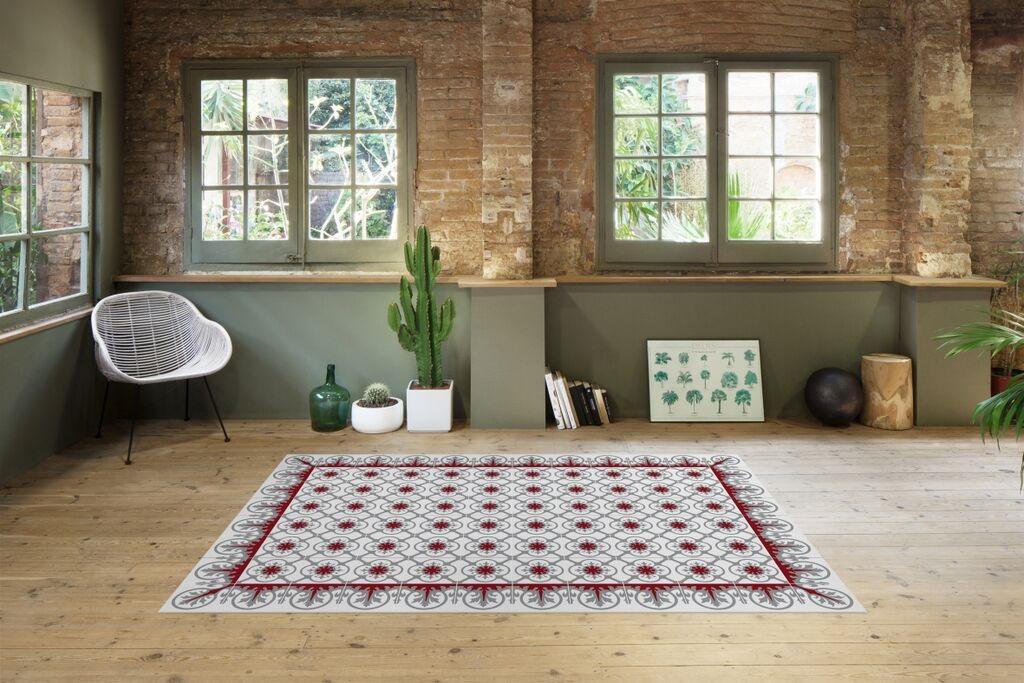 Alfombras hidraulik alfombras inspiradas en las baldosas for Baldosas vinilicas pared