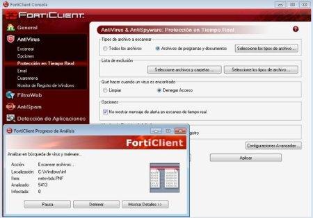 Configuración Forticlient