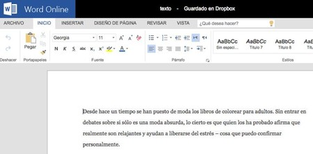 Dropbox Office Online