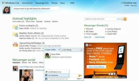 Windows Live Messenger pronto se integrará con el chat de Facebook
