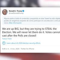 ¿Moderarías las acusaciones del presidente de EEUU de fraude electoral? Así deciden Twitter y Facebook