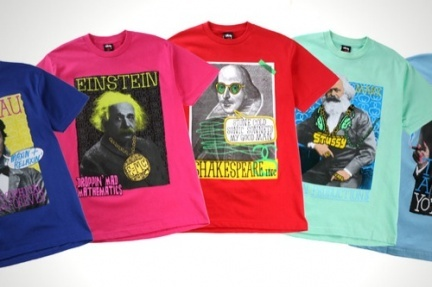 Camisetas de grandes genios modernizados