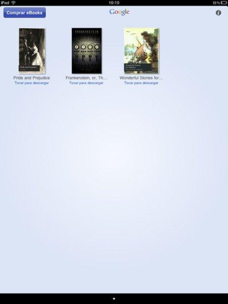 "Un vistazo a la aplicación ""Google Books"" de Google para iOS"