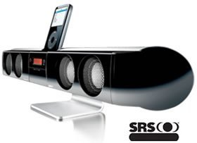 Altavoz iBeam con base para el iPod