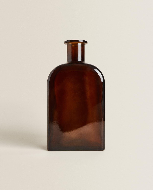 Jarrón de vidrio reciclado estilo vintage