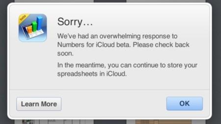 Apple limita el acceso a la beta de iWork for iCloud por demasiada demanda