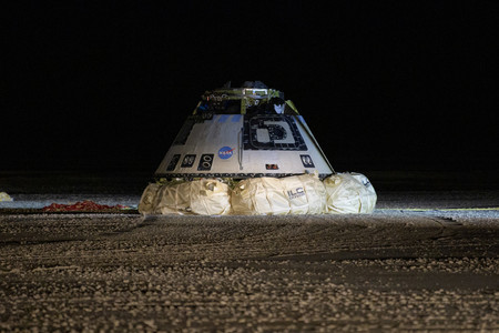 Boeing Starliner es la primera cápsula para astronautas fabricada en EEUU que aterriza en tierra, a pesar de haber fallado su misión