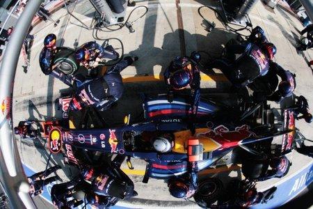 Red Bull, pit-stops en menos de 3 segundos