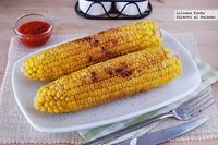 Mazorcas de maíz a la plancha. Receta