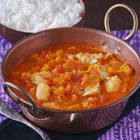 Curry rojo de bacalao y calabaza: receta exótica para variar los platos típicos de pescado