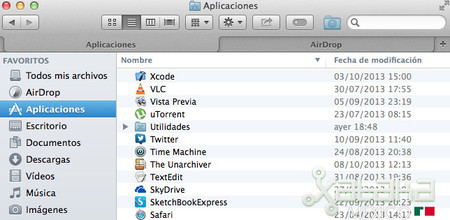 Pestañas finder Mavericks