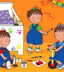 Las Tres Mellizas Bebés enseñan vocabulario en varios idiomas